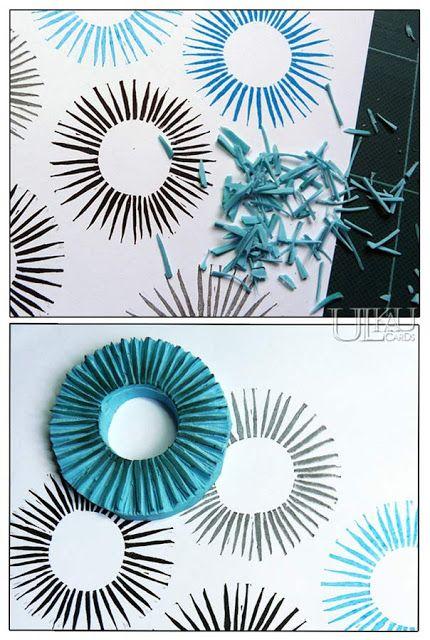 Ulkau : Daily - Kreis u. Muster-Mittwoch - 158 Paradies in Arbeit #fabricstamping