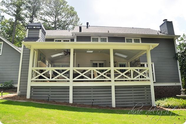 Southern Porch Reveal Before After Porch Lattice Building A Deck House With Porch