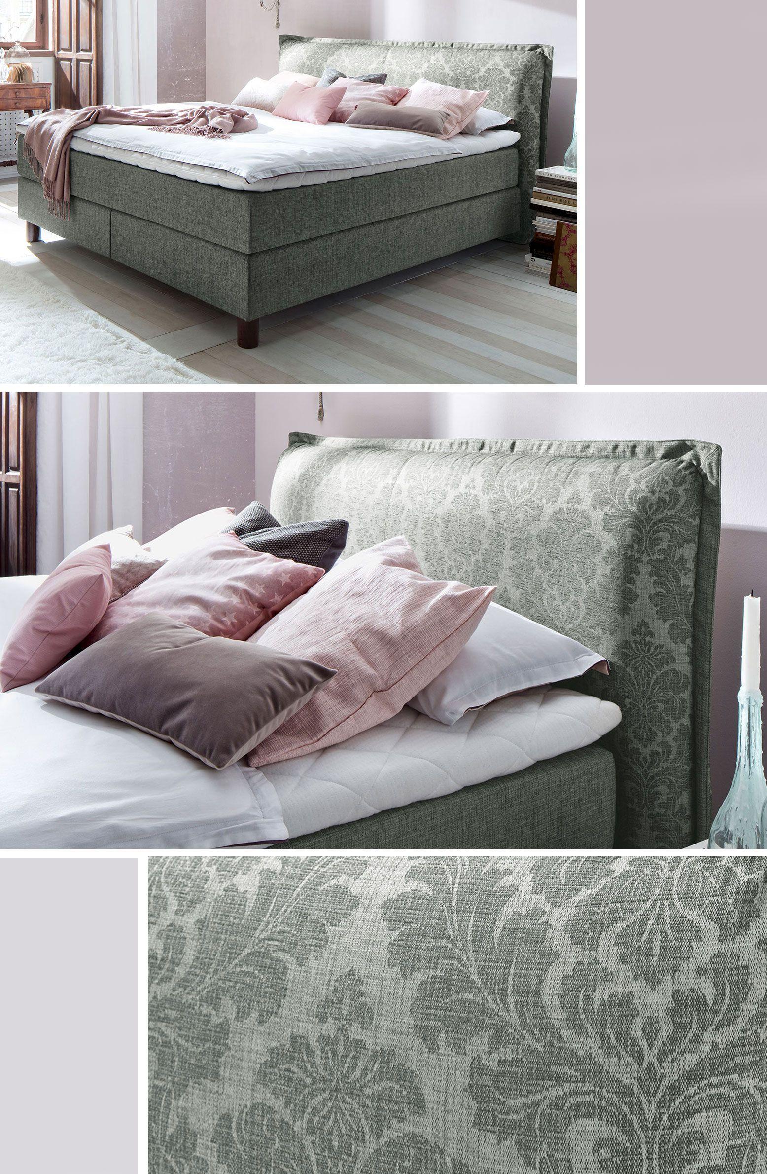 royales boxspringbett mit tollem kopfteil f nf verschiedene farbkombinationen stehen zur. Black Bedroom Furniture Sets. Home Design Ideas