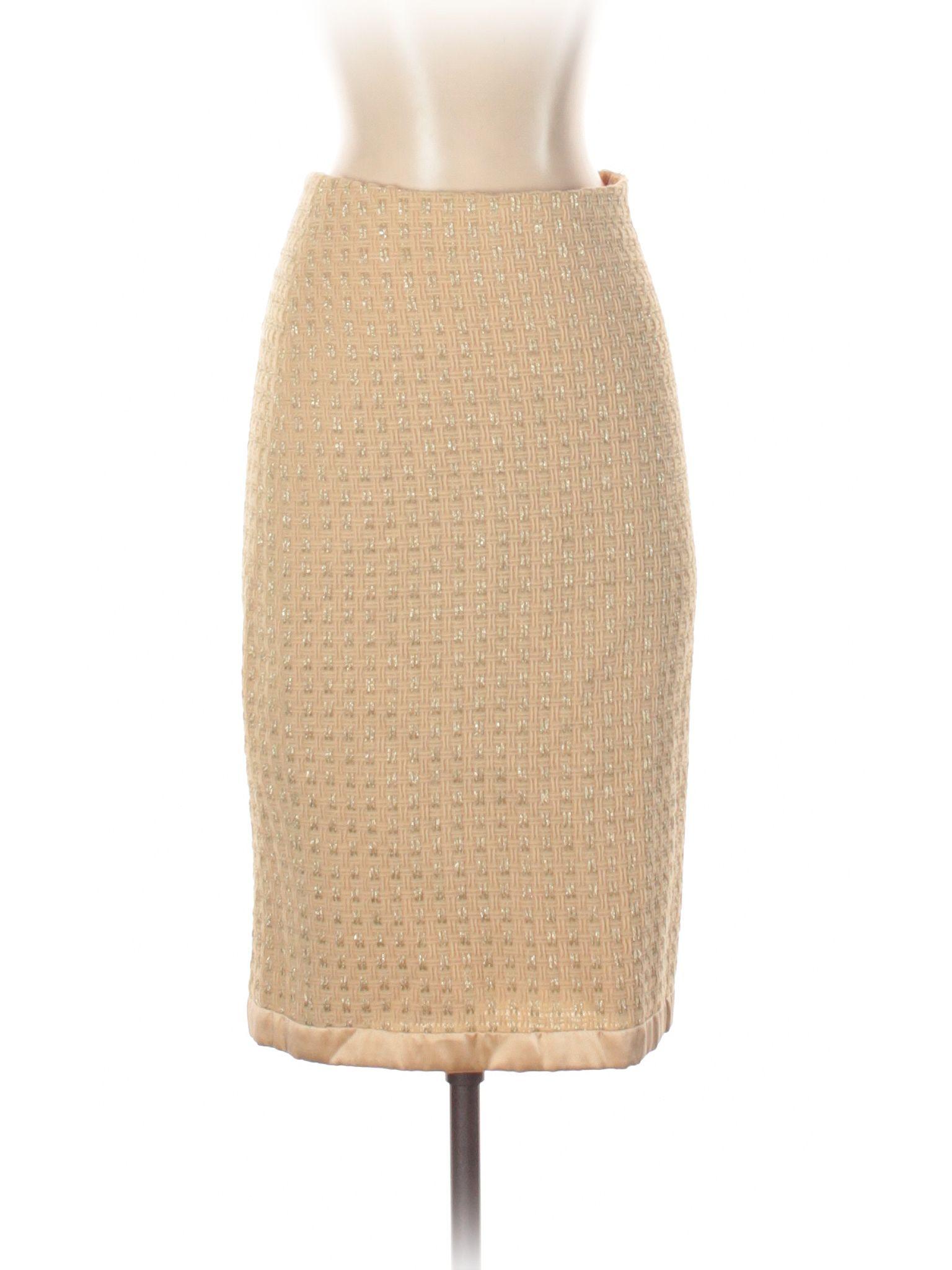 d7a319e73224 Milly for 5F Bergdorf Goodman Wool Skirt: Tan Women's Bottoms - 27571231