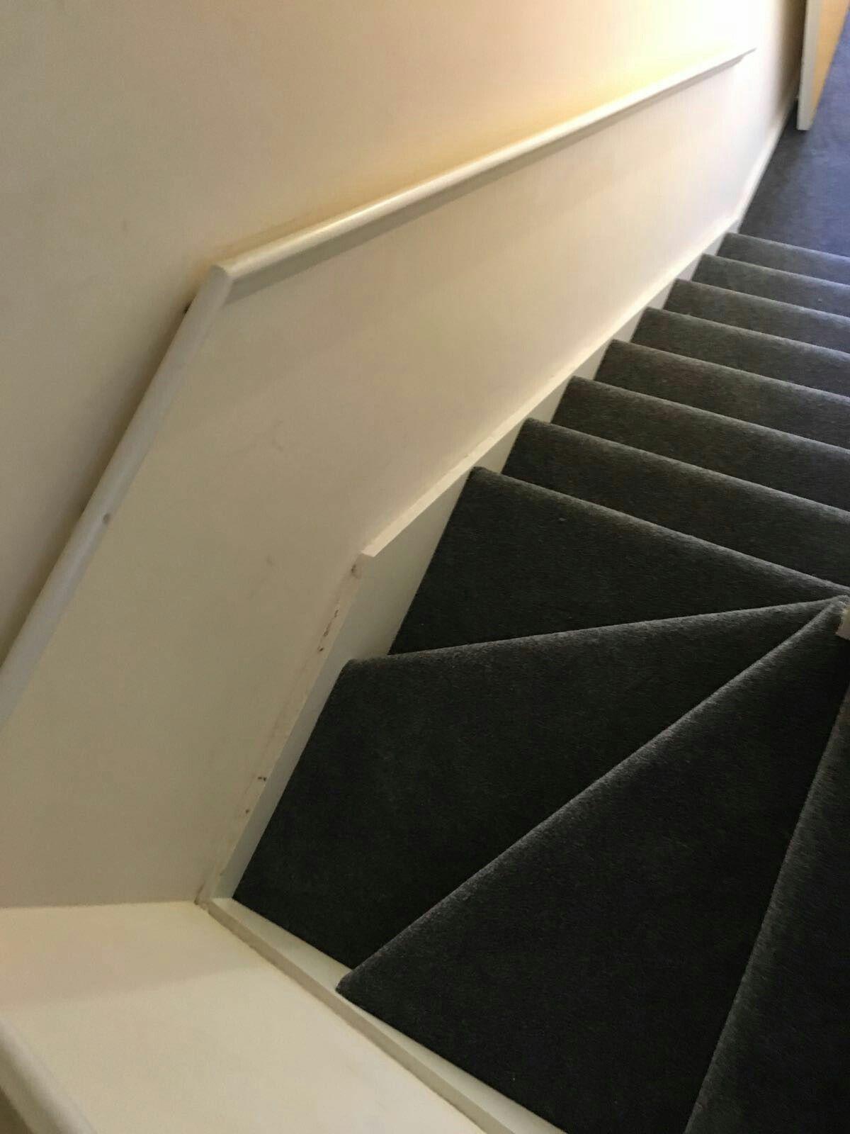 Best Grey Carpet Stair Winders Carpet Stairs Grey Carpet Stairs 640 x 480