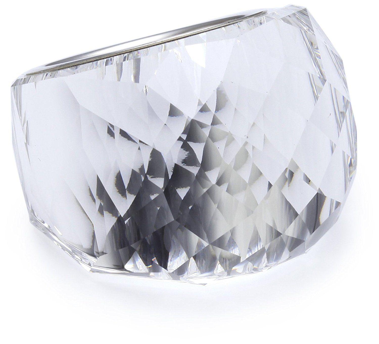 6b5651197 Swarovski Nirvana Clear crystal silver plated ring 846393, UK P 1/2,  (Manufacturer size: 58 Large) (US 8) *** Click image for more details.
