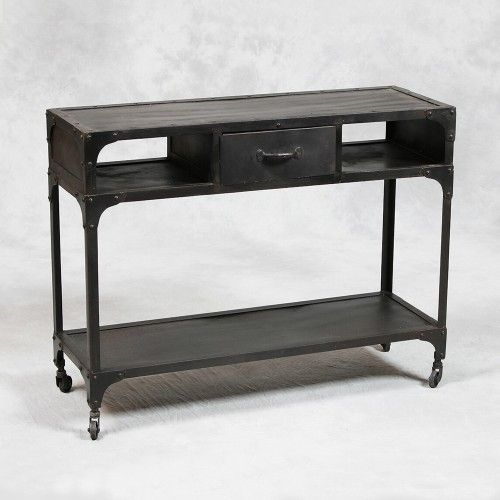 Industrial Style Metal Console Table Modern Side Tables And Accent Tables