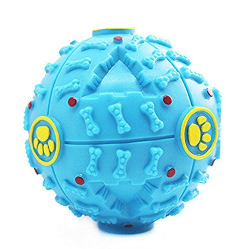 Dog Toy Balls for Dogs  Dental Treat Bite Resistant Indestructible NonToxic Strong Tooth Cleaning Dog Dog Toy Ballss for Pet Training Playing Chewing  Soft Rubber Bouncy Tennis Ball -- Learn more by visiting the image link.(This is an Amazon affiliate link and I receive a commission for the sales)