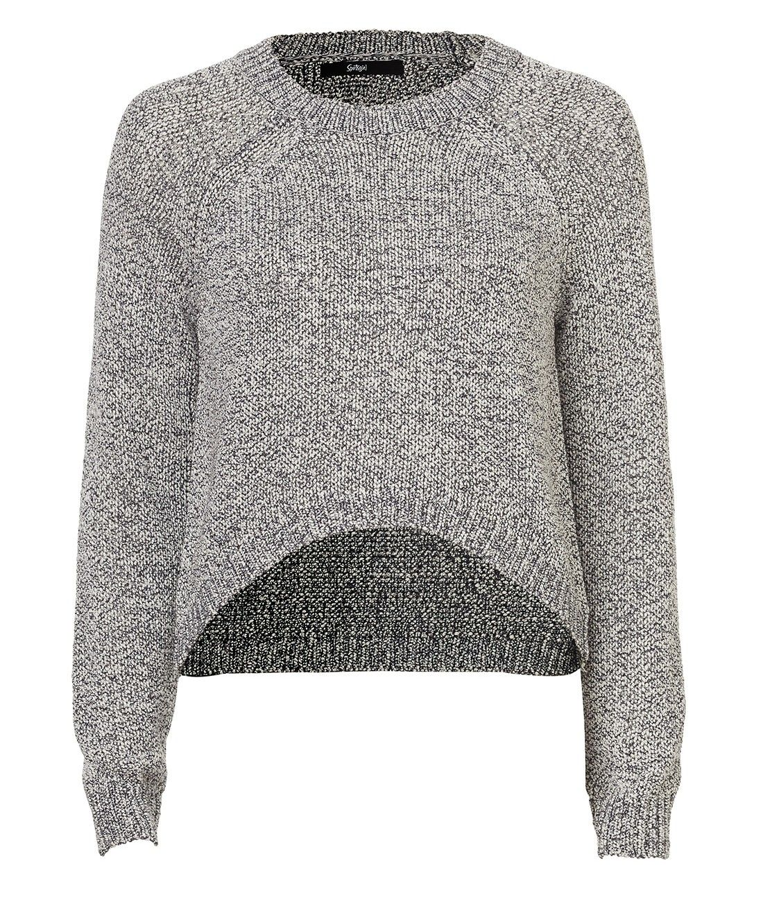 HIGH LOW CROP SWEATER | Clothes | Pinterest | High low, Knitwear ...