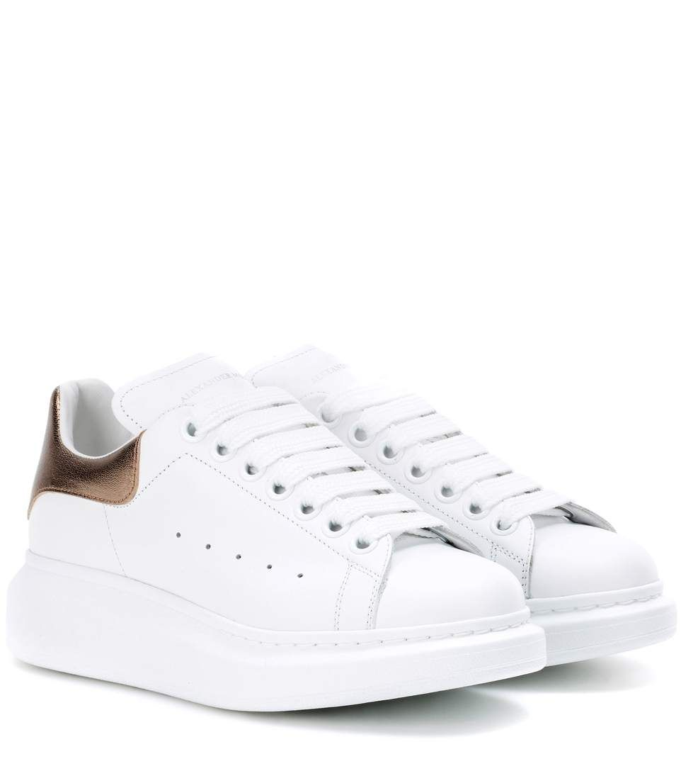 a50329965b32 ALEXANDER MCQUEEN Leather Platform Sneakers.  alexandermcqueen  shoes   sneakers