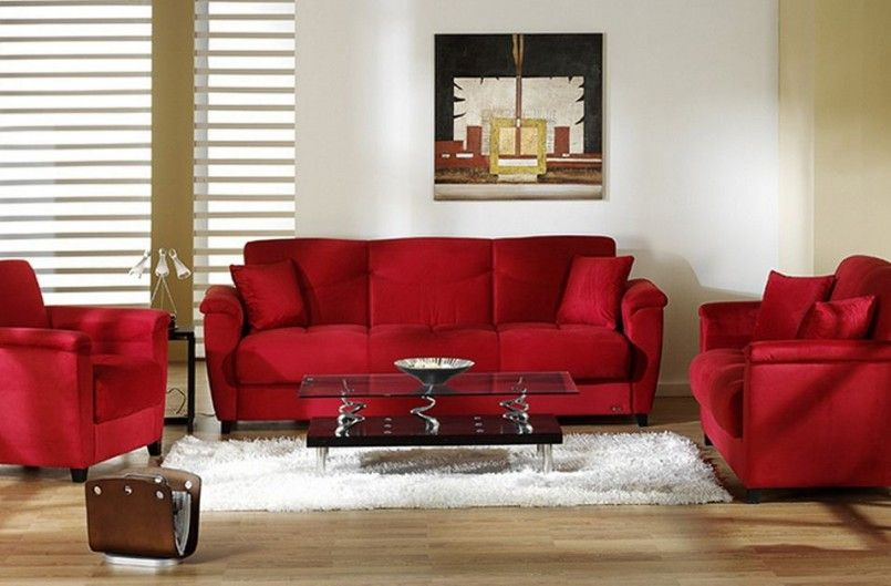 Living Room Red Color Small Living Room Chair Cheap Living Room Furniture  Small Apartment Living Room