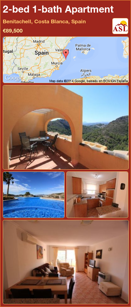 Apartment For Sale In Benitachell Costa Blanca Spain With 2 Bedrooms 1 Bathroom A Spanish Life