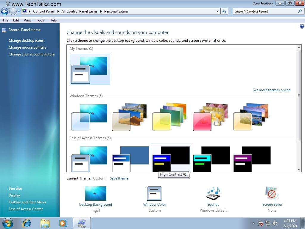 Change Desktop Background Screen Saver Window Colors And Sound Video Converter Windows Change Background