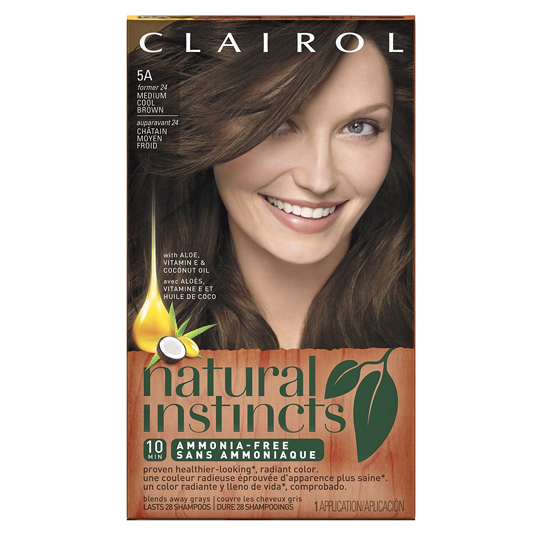 Clairol Natural Instincts 5a 24 Clove Medium Cool Brown Semi Permanent Hair Color 1 Kit Clairol Natural Instincts Clairol Natural Non Permanent Hair Color