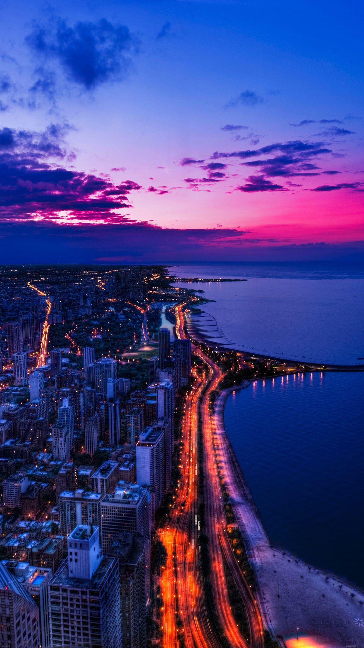 画像 夜景 Iphone6用 美しい夜景の壁紙 待受 Naver まとめ Landscape Wallpaper City Wallpaper Sky Aesthetic