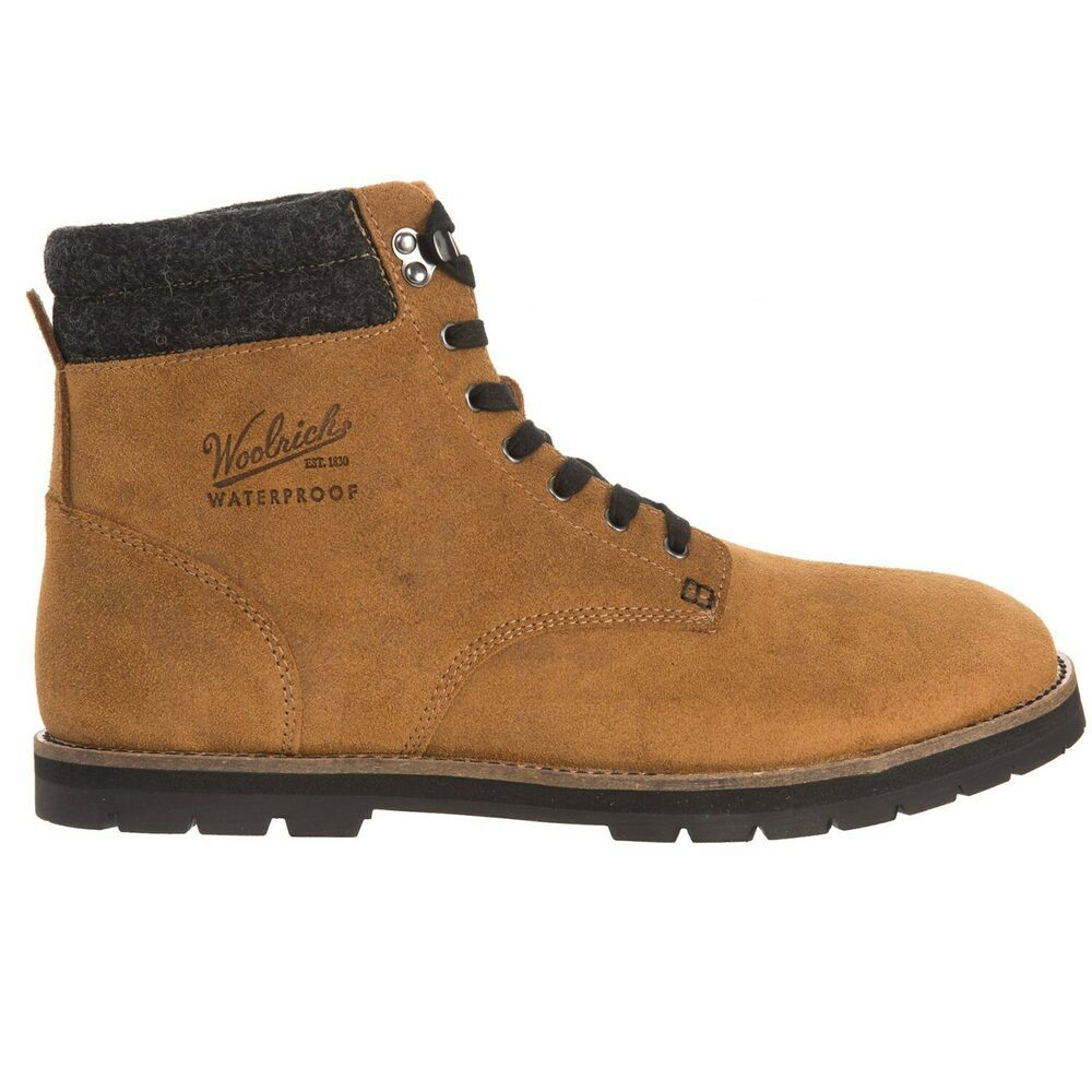 Woolrich Men Suede Boots 1830 Uncharted