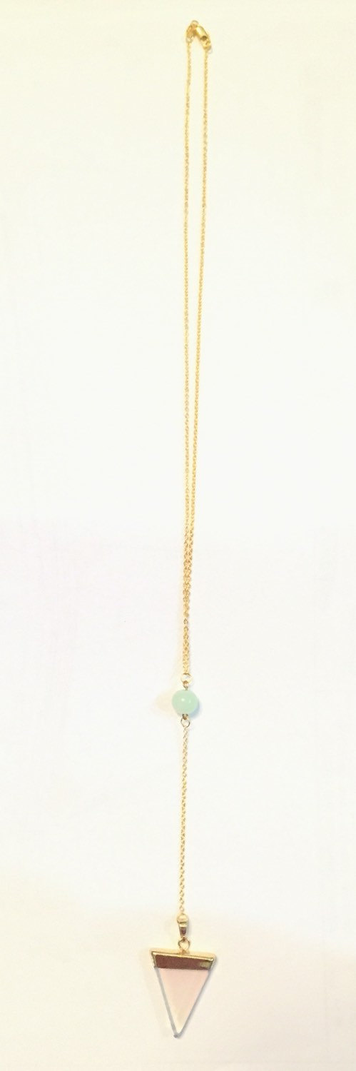 Melody Triangle Necklace Gold-Filled Layering by LAAALAAAland