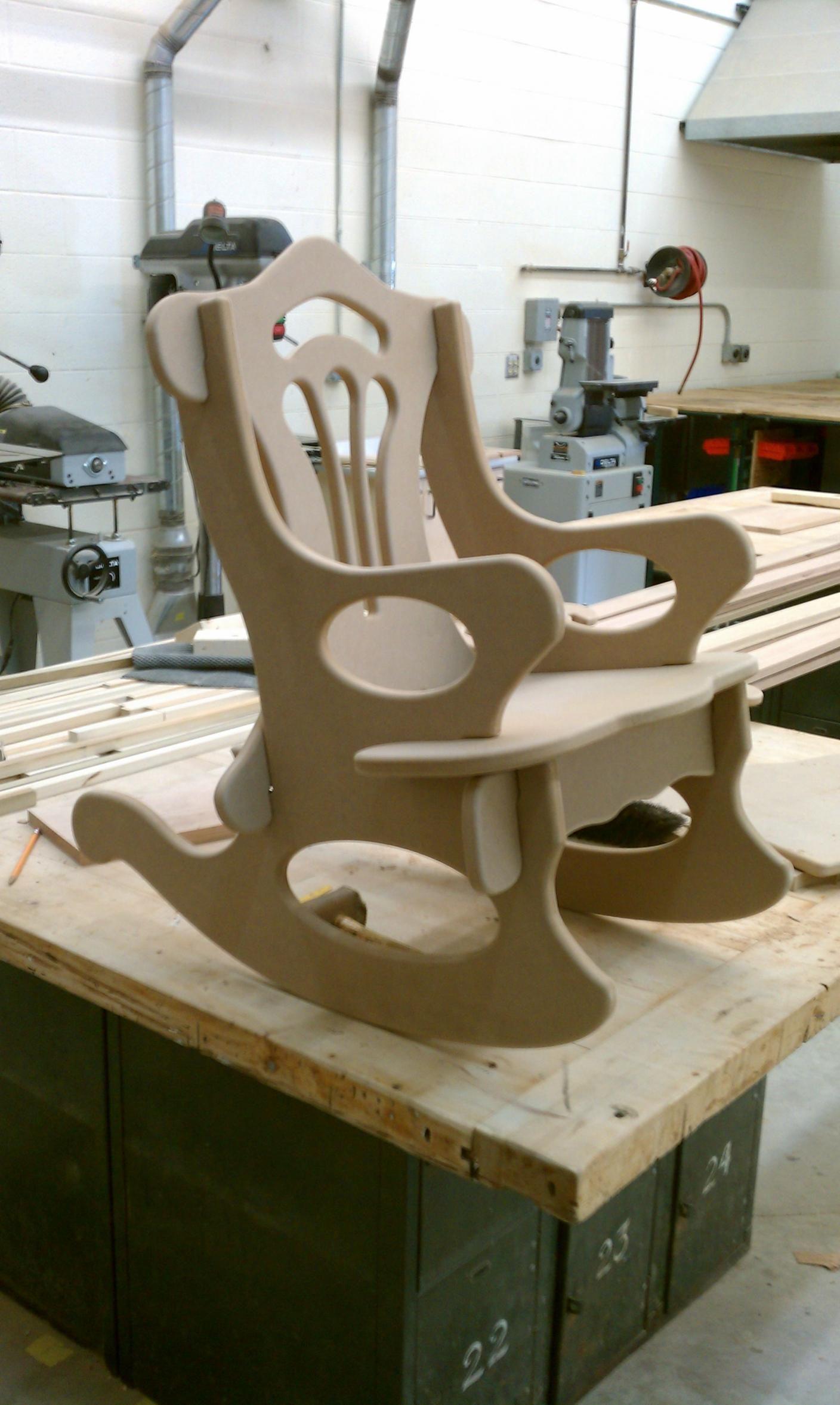 Details about Wooden Garden Rocking Arm Chair Outdoor Wood ...