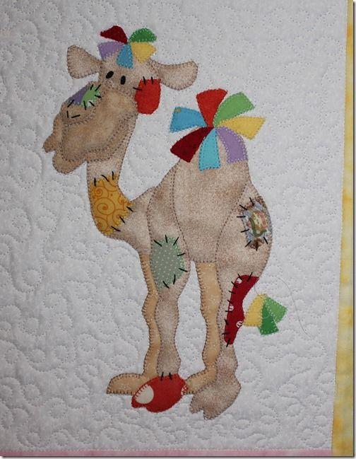 078...an incredible camel appliqué !