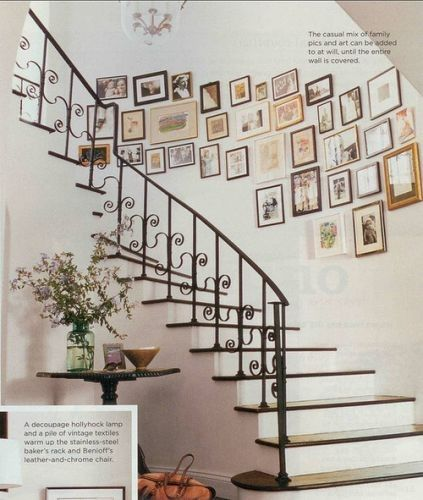 Love this idea for a stairway  Great and easy way to add on