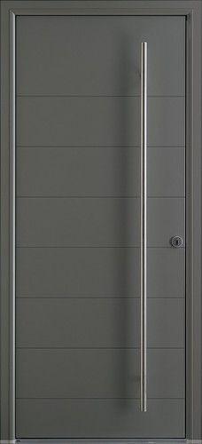 Porte aluminium porte entree bel 39 m contemporaine barre de tirage ronde sans vitrage - Bel m porte d entree ...