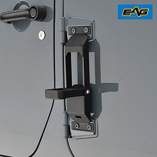 Eag Door Hinge Step Metal Folding Foot Pegs For 07 17 Jeep