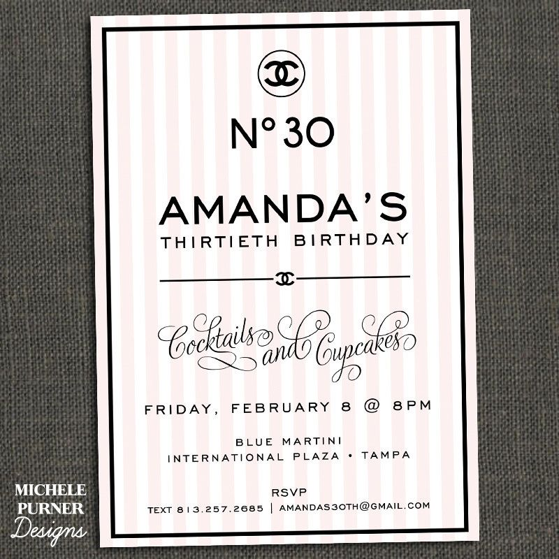 Chanel inspired birthday party invitation party ideas pinterest chanel inspired birthday party invitation filmwisefo Choice Image