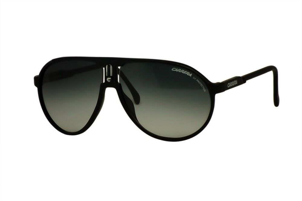 Carrera Champion aviator lenses are yet another great offering from a company which specializes in sporty aviator designs.  These sunglasses have moderately thick black rims and distinctly rounded gray gradient lenses shaped almost like angled teardrops.    http://www.topfashionshades.com/crchampion-dl5jj-6212125.html  #CARRERA CHAMPION