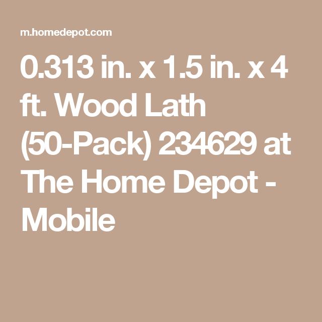 Best 5 16 In X 1 1 2 In X 4 Ft Wood Lath 50 Pack 234629 400 x 300