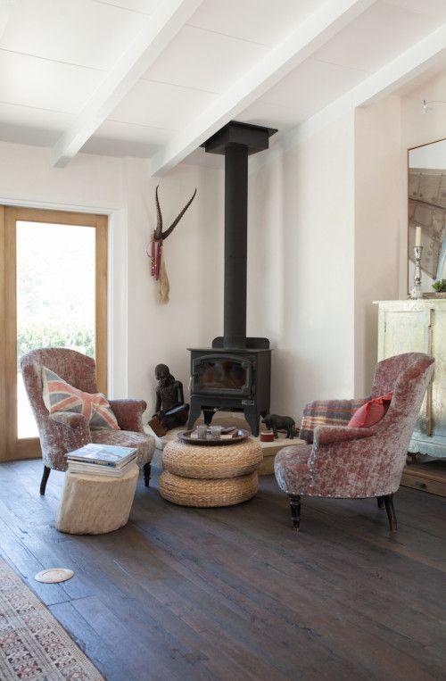A Santa Barbara Dream Home Design Sponge Wood Burning Stove