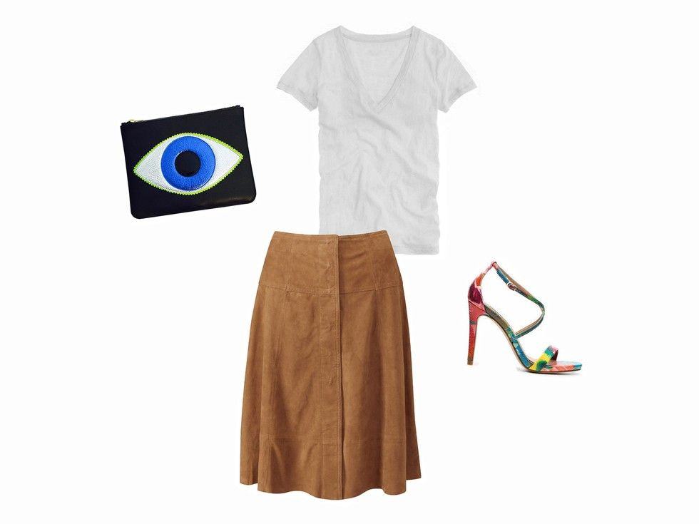 How To Wear A Suede Skirt: 5 Outfit Ideas To See You Through Fall