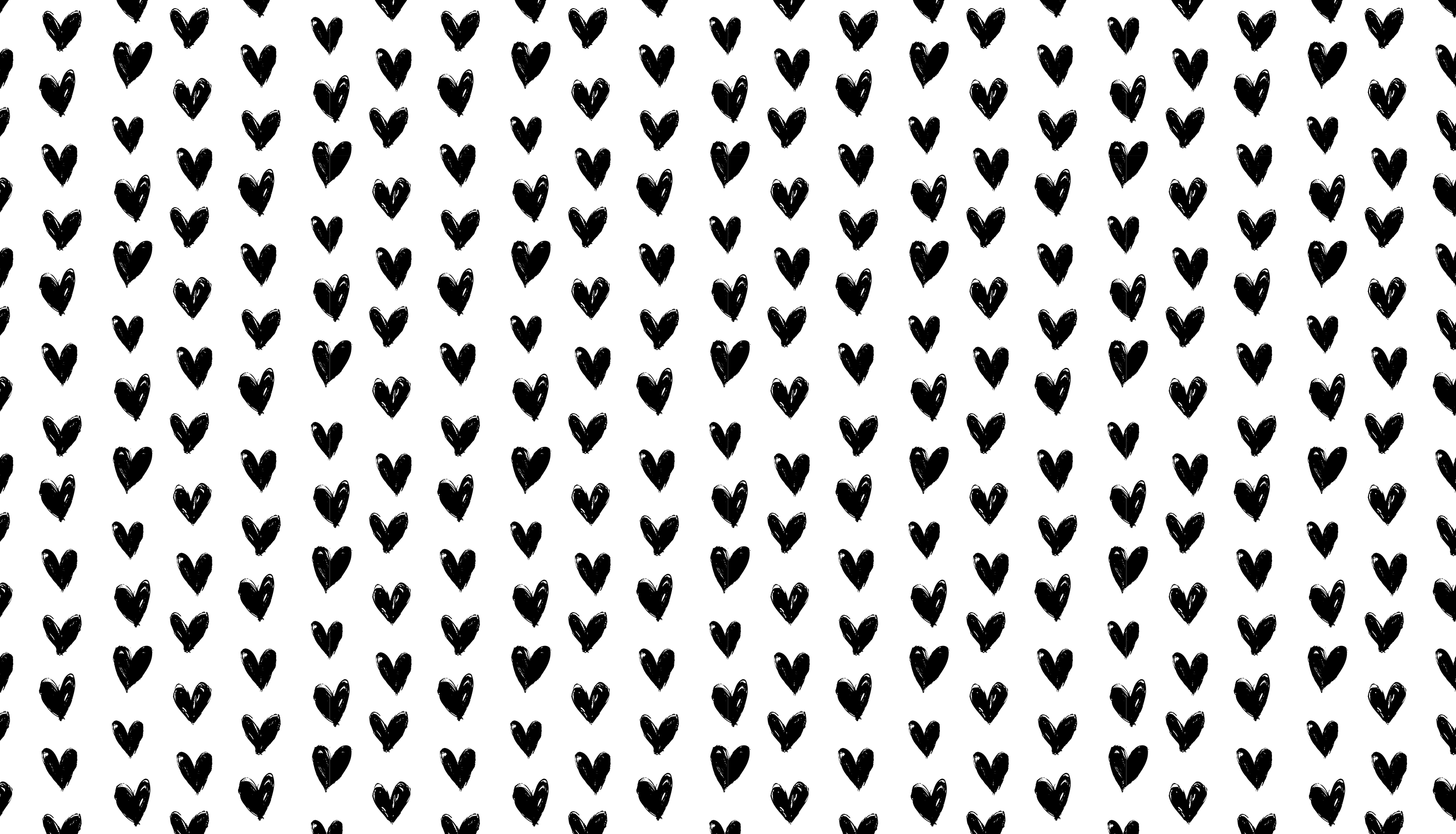 Mary Black And White Hearts Desktop Background Wallpaper Black