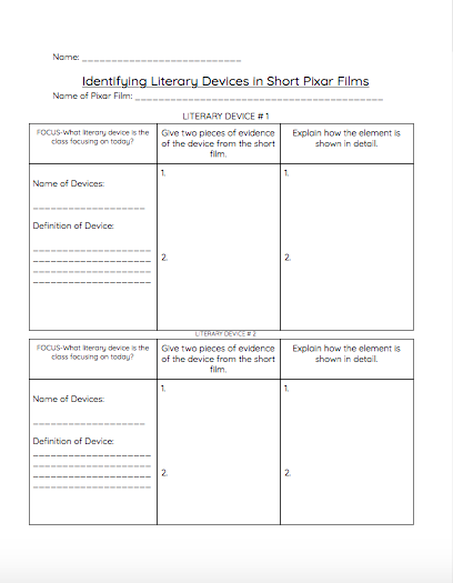 41++ Literary devices worksheet Information