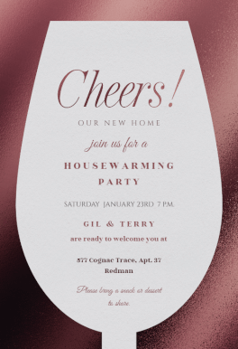 Housewarming Invitations Templates Best Wine Glass Printable Invitation Templatecustomize Add Text And .