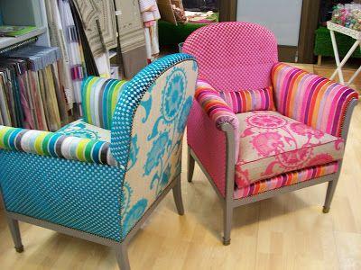 Deux fauteuils des Années 40 ,relooker au Années 2013, la teinte du - peindre avant de tapisser