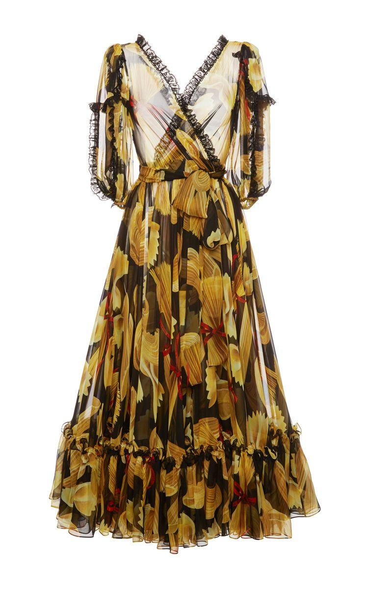 380800598cc DOLCE   GABBANA Pasta Print Chiffon Dress.  dolcegabbana  cloth  dress