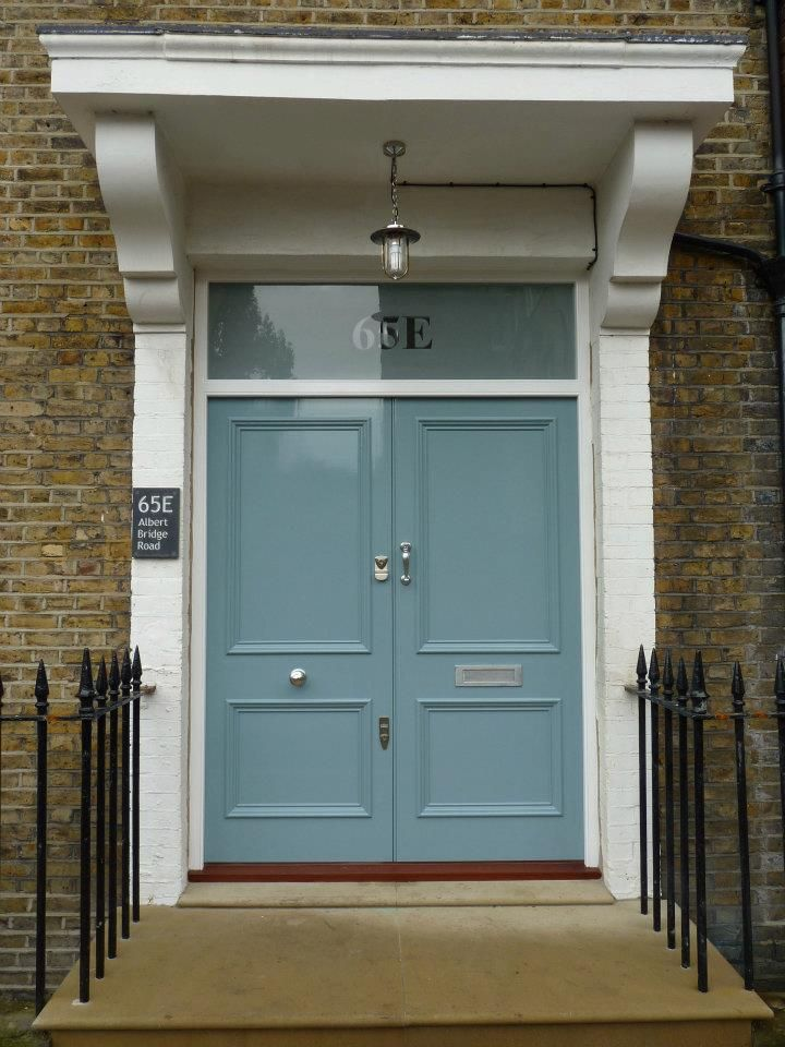 The London Door Company \'Grey Blue\' paint colour - Gloss | Front ...