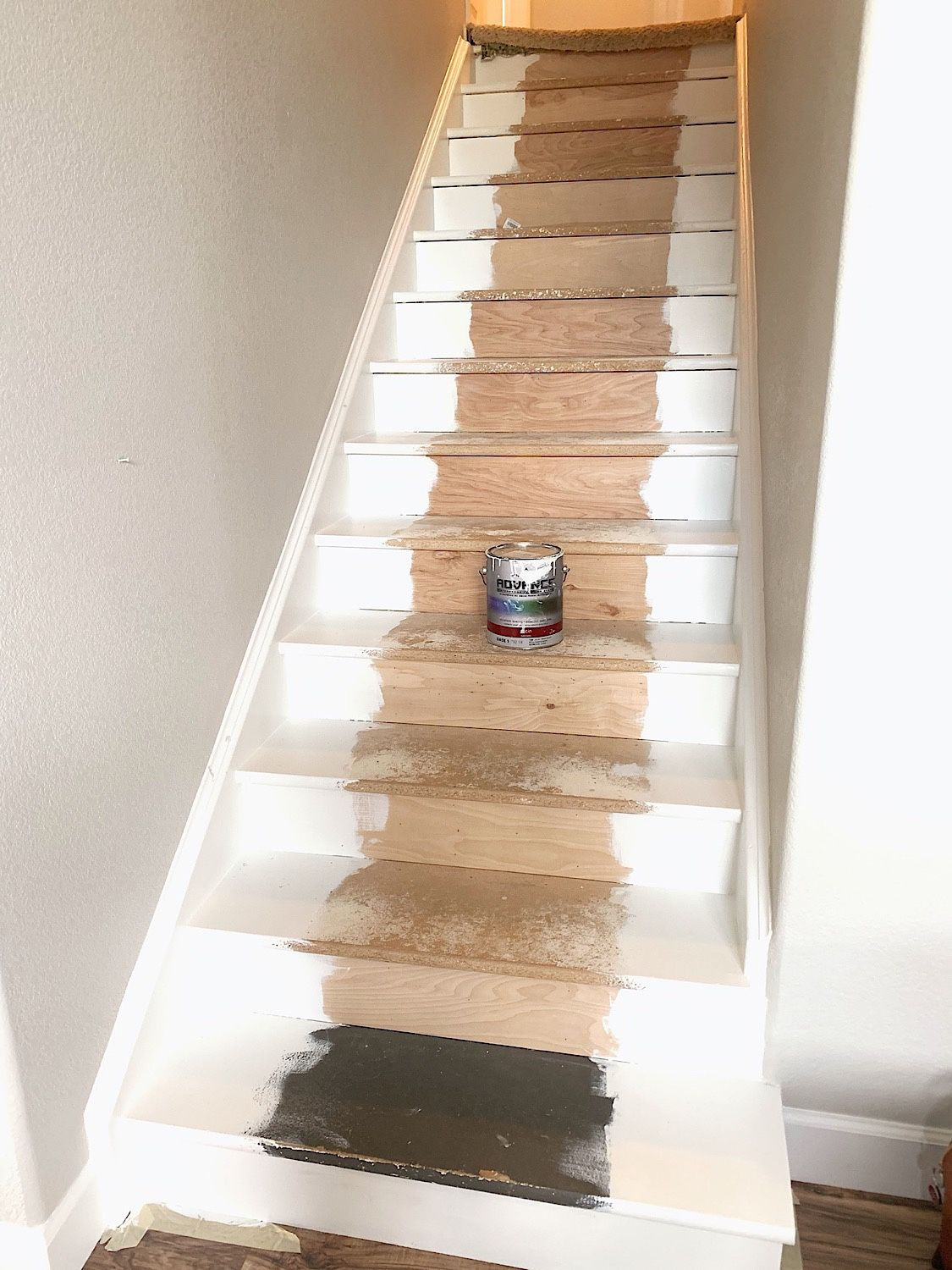 Best Diy Painted Particle Board Stair Makeover – Dynamically 400 x 300