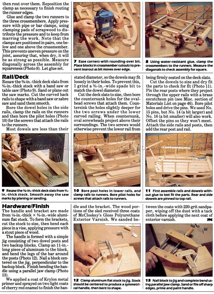 Snow Sled Plans Children's Outdoor Plans Wood projects