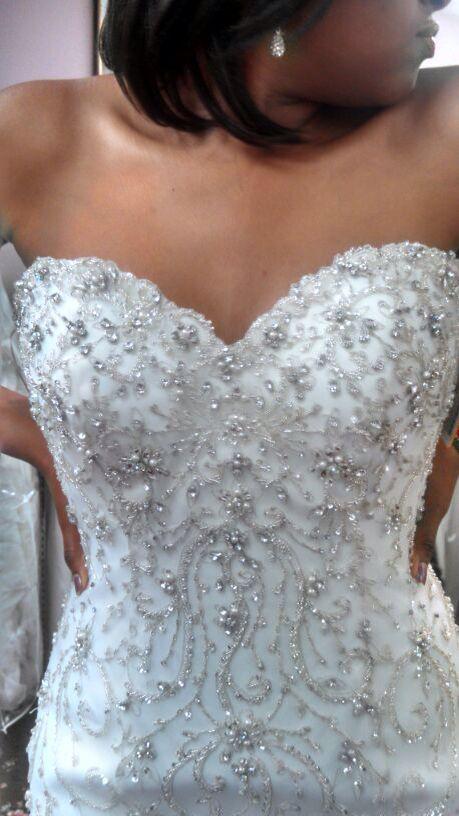 Gorgeous stunning beaded wedding dress! Love it