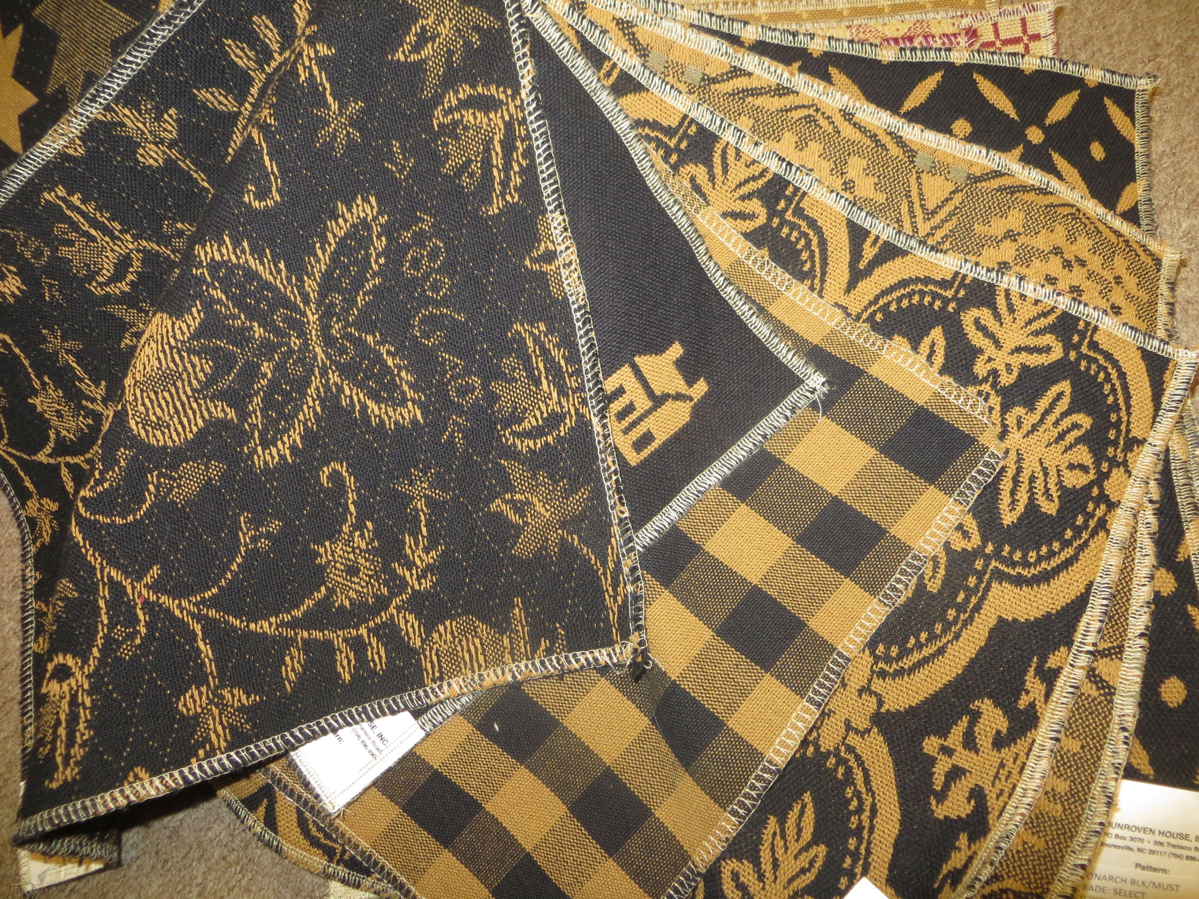 Black & Mustard Upholstery Fabric