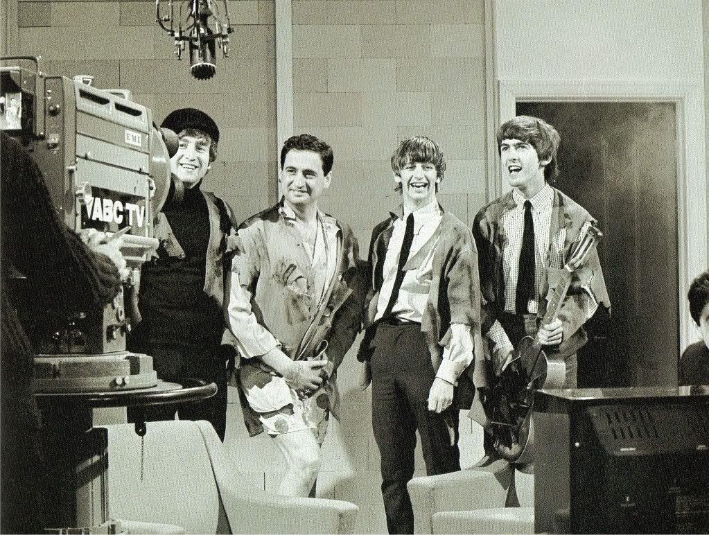Bildresultat för The Beatles at the Teddington studios February 1964