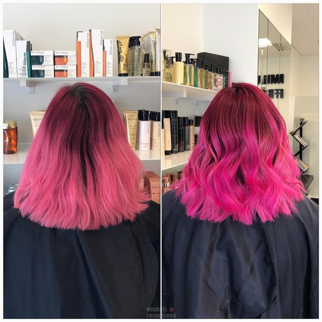 färga håret rosa hos frisör