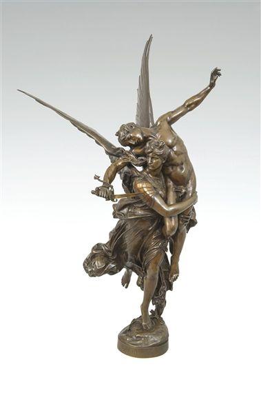 19th Century Gloria Victis Bronze Statue   Bronze statue