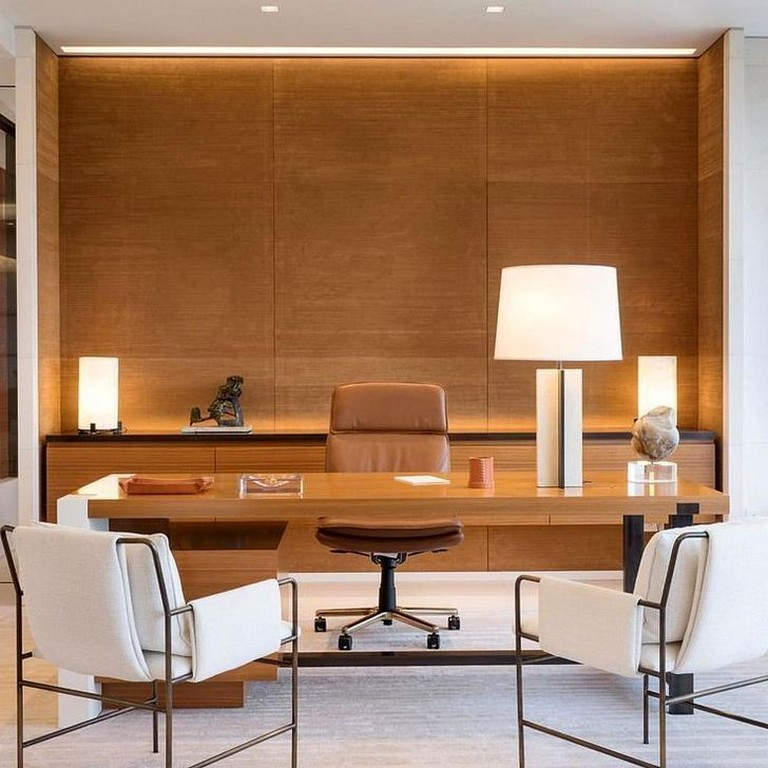 45 Elegant Home Office Decoration Ideas Homeoffice Homeofficedecor Homeofficedecorati Office Furniture Design Office Interior Design Office Furniture Decor