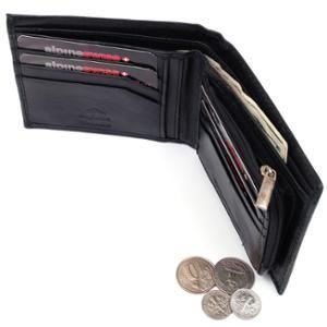 856b5b8a584c1  artofdeals is selling  walmart now Mens Leather Wallet Zipper Coin Purse 6  Card Slots 3 More Pockets 2 Bill Section Black OSFA
