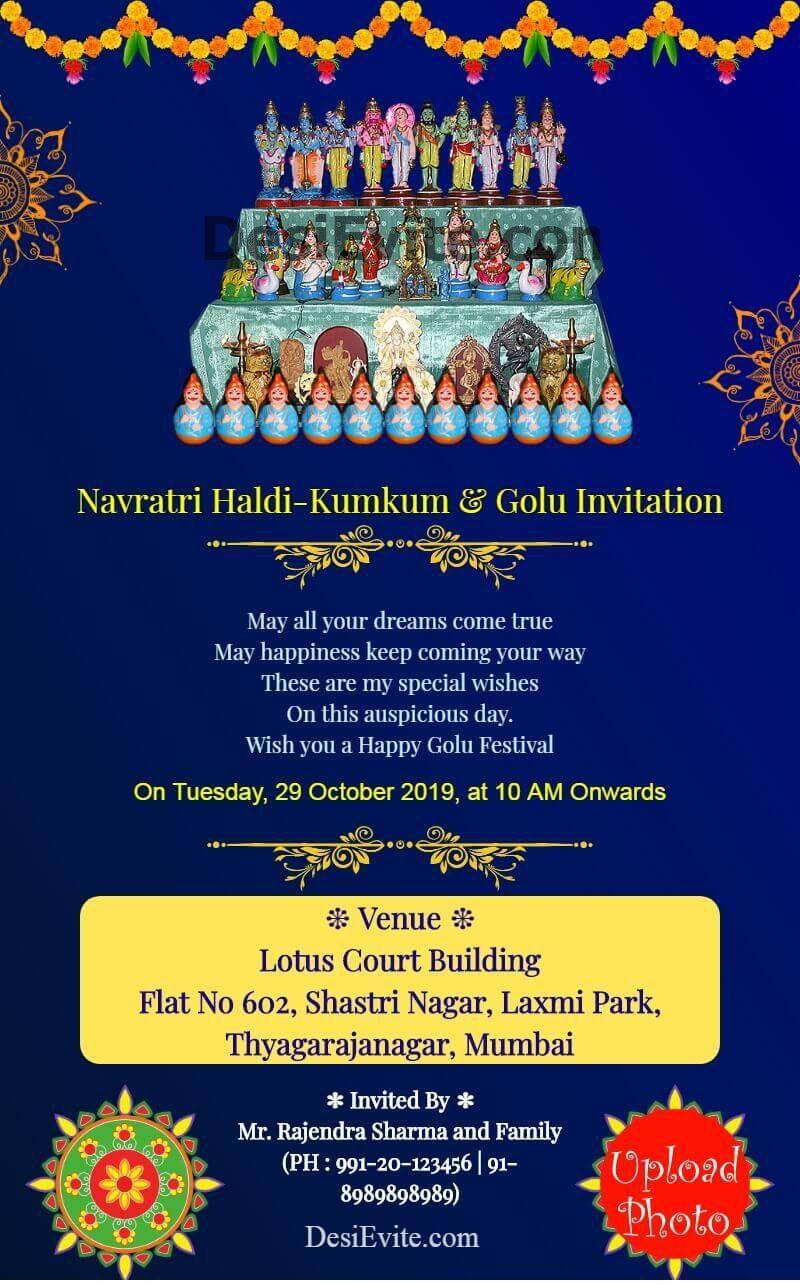 Create Golu Invitation Card For Whatsapp Invitation Card