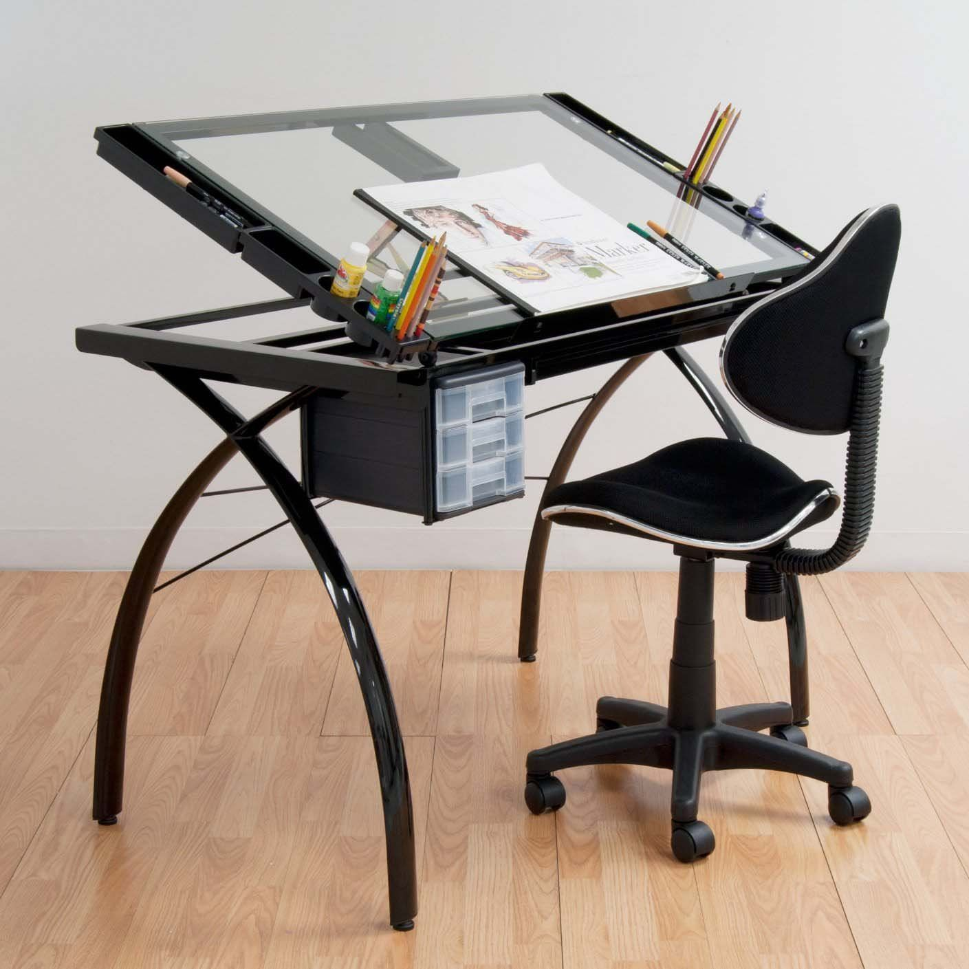Futura Drafting Table With Glass Top Drafting Desk Furniture Design