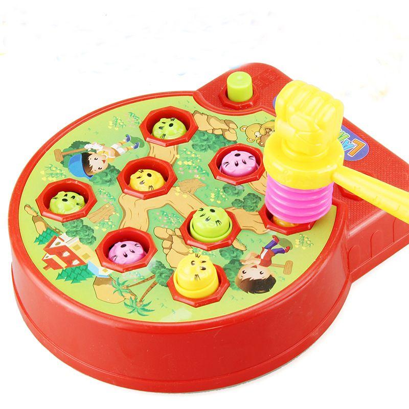 아기 Whac-두더지 두더지 햄스터 공격 찌를 A 몰 전자 음악 플라스틱 아이 게임 장난감 어린이 지능 WJ399