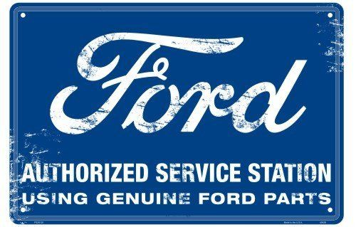 Genuine Ford Parts Nostalgia Sign by Tag City Automotive