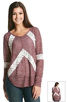 Love by Design Chevron Lace Applique Pullover Top is on sale now for - 25 % !
