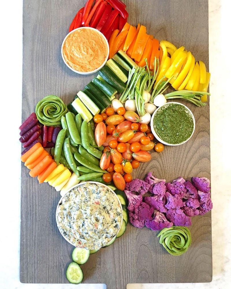 How To Make A Fruit And Veggie Party Platter Easy Diy