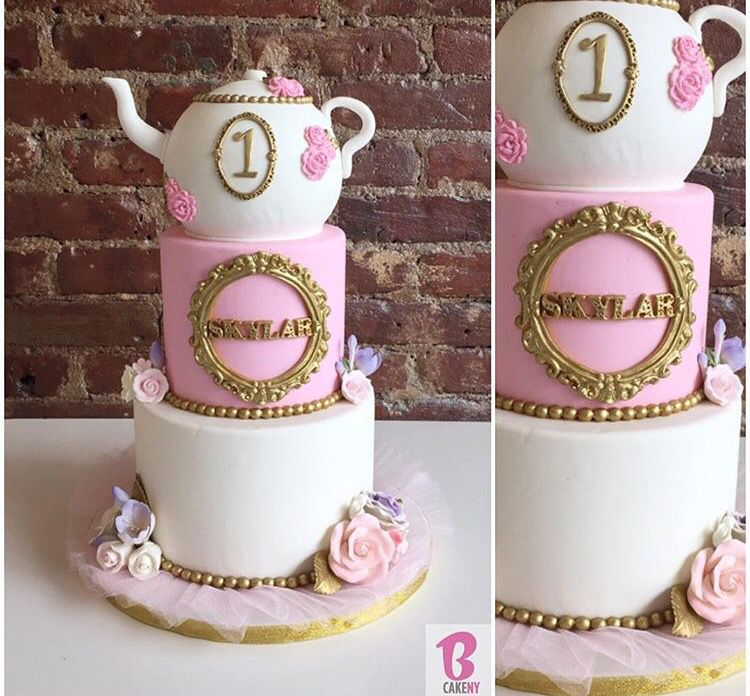 First Birthday Tea Party Cake #bcakeny