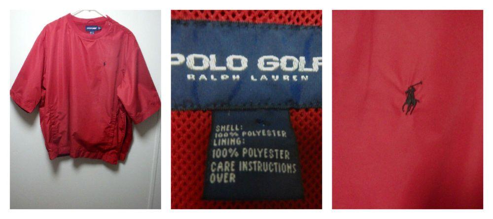 Ralph Lauren Polo Golf Zip Button Pullover Jacket Red Windbreaker Sz Large Men S Pologolfralphla Ralph Lauren Outfits Ralph Lauren Mens Shirts Red Windbreaker
